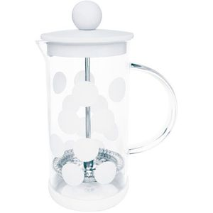 Zak! designs Mała kawiarka french press dot dot 0,35 litra biała (1313-881) (7640127687697)