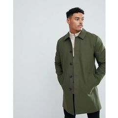 shower resistant single breasted trench in khaki - green, Asos, XXS-XXL
