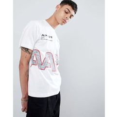 AAPE By A Bathing Ape nasa t-shirt with reflective logo in white - White, kolor biały
