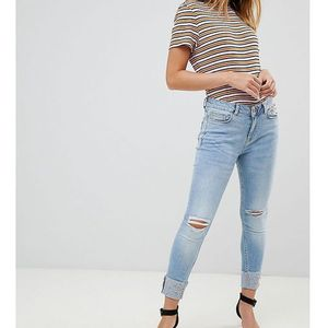 New Look petite turned up skinny jeans - Blue, jeans