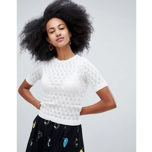 knit top in white - white, Monki