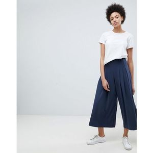 Weekday Pleat Front Wide Leg Trouser - Navy