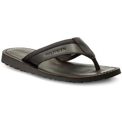 Japonki TOMMY HILFIGER - Bari 8 Casual Leather Sandal FM0FM01530 Coffee Bean 212, kolor brązowy