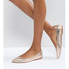 Asos latch pointed ballet flats - gold