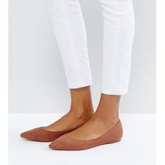 Asos latch pointed ballet flats - brown