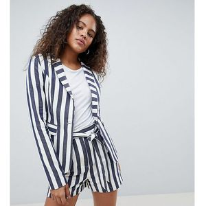 Glamorous tall relaxed blazer in bold stripe co-ord - blue