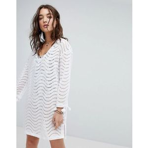 broderie beach cover up - white marki Seafolly
