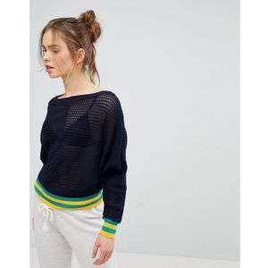 Micha Lounge Tipped Sweater - Navy