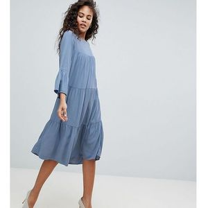 Y.A.S Tall Tiered Dress - Blue, w 2 rozmiarach