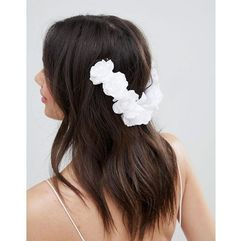 ASOS DESIGN Bridal Floral Back Hair Clip - White