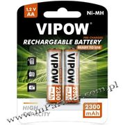 Akumulatorki VIPOW HR6 2300 mAh Ni-MH 2szt/bl Ready to use
