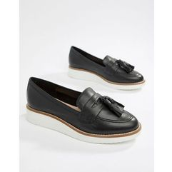 leather chunky sole tassel loafers - black, Aldo