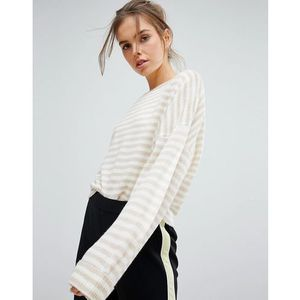 Micha Lounge Stripe Slouchy Jumper - Cream