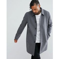 ASOS Wool Mix Trench Coat In Light Grey - Grey, kolor szary