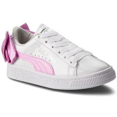 Puma Sneakersy - basket bow patent ac ps 367622 02 puma white/orchid/gray