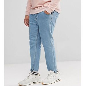 Only & Sons Tapered Jeans With Raw Hem In Stretch - Blue, jeansy