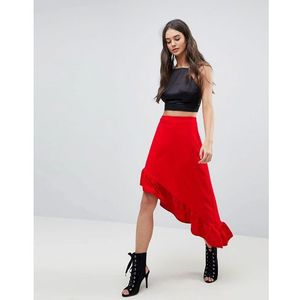 frill maxi skirt - red marki Lasula