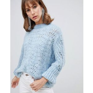 stitch jumper in light blue - blue marki River island
