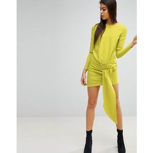 Missguided Twist Front Mini Dress - Green