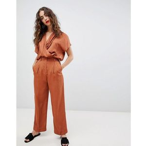 Mango straight leg co-ord trouser in rust - brown