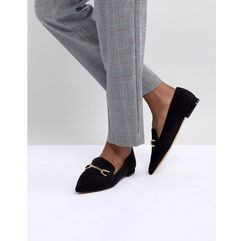 design lance pointed loafer ballet flats - black marki Asos