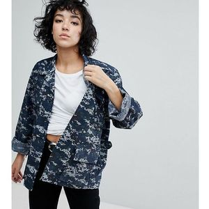 Reclaimed Vintage Revived Military Jacket In Pixel Camo - Blue, 1 rozmiar