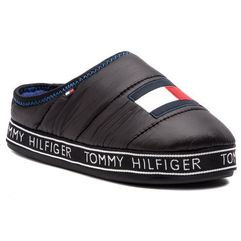 Kapcie TOMMY HILFIGER - Flag Patch Downslipper FM0FM02004 Black 990