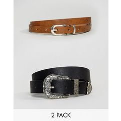 Asos 2 pack western waist & hip belts - multi