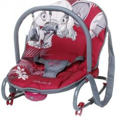 4Baby Leżaczek Jungle, Red (5901691953161)