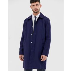 ASOS DESIGN shower resistant trench coat in navy - Navy, kolor szary