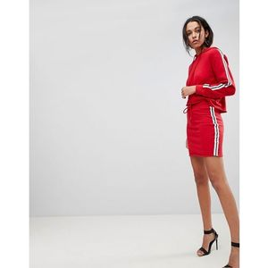 Lasula Side Stripe Skirt - Red