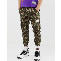 AAPE By A Bathing Ape cargo trousers with pocket print in camo - Green, w 3 rozmiarach