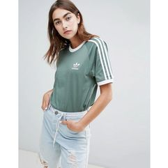 3 stripe t-shirt in khaki - green marki Adidas originals