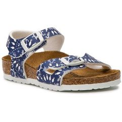 Birkenstock Sandały - rio 1012712 nautical print blue