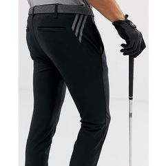 Adidas Golf Ultimate 365 3-stripe tapered trousers in black - Black