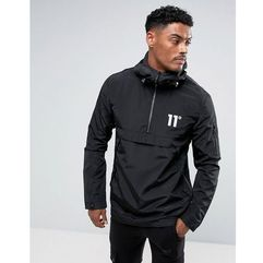 11 degrees lightweight overhead jacket in black - black