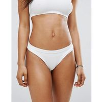Zulu and zephyr Zulu & zephyr ribbed hipster bikini bottom - white